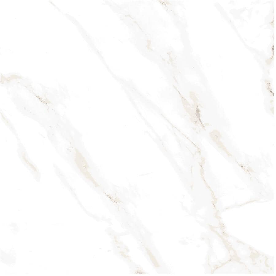 "CENTURA:Naos Collection 24"" x 24"" Porcelain Tile Flooring - White Matte, 15.83 sq. ft."