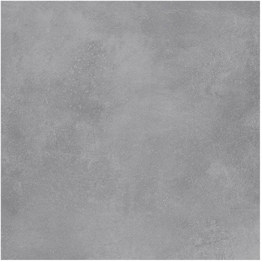 """CENTURA:Galaxy Collection 12"""" x 24"""" Porcelain Tile Flooring - Grey Brillo, 15.3 sq. ft."""