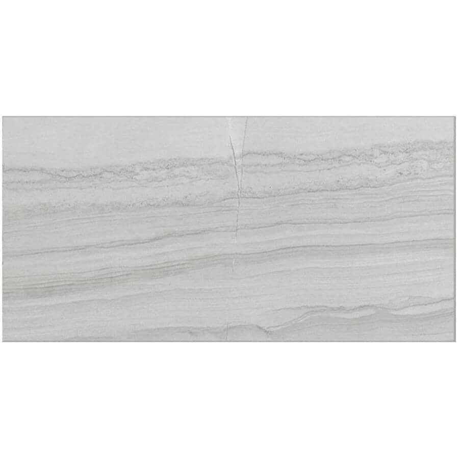 """CENTURA:Beaubridge Collection 12"""" x 24"""" Porcelain Tile Flooring - Grey, 15.01 sq. ft."""