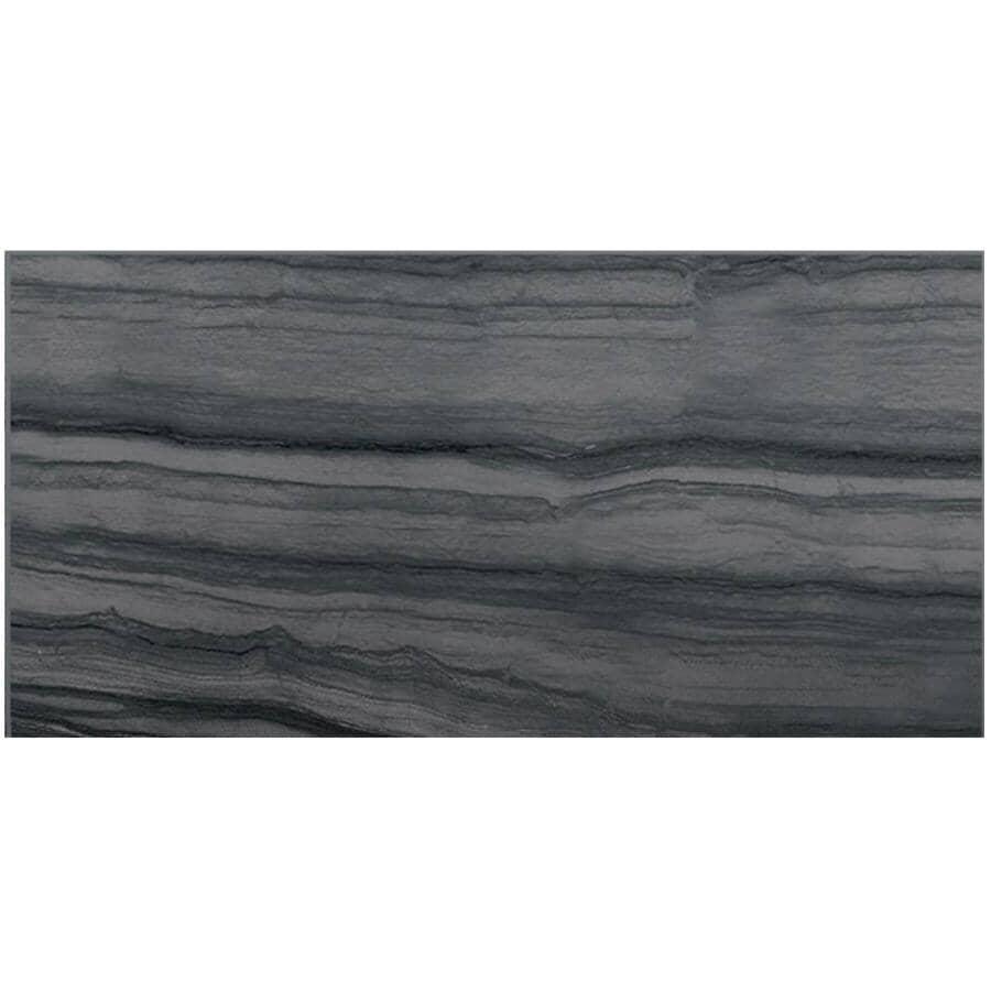 "CENTURA:Beaubridge Collection 12"" x 24"" Porcelain Tile Flooring - Smokey Grey, 15.01 sq. ft."