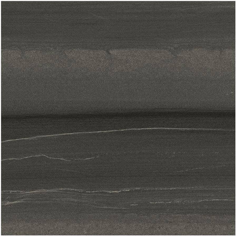 "CENTURA:Linear Stone Collection 12"" x 24"" Porcelain Tile Flooring - Black, 15.01 sq. ft."