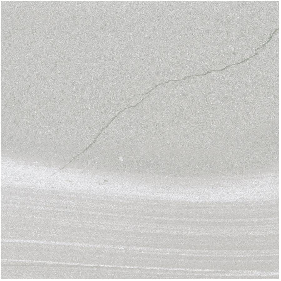 "CENTURA:Linear Stone Collection 12"" x 24"" Porcelain Tile Flooring - Grey, 15.01 sq. ft."