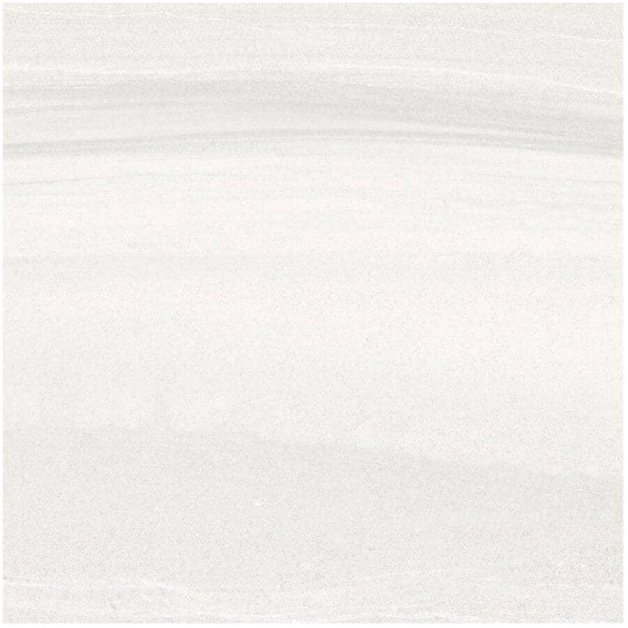 "CENTURA:Linear Stone Collection 12"" x 24"" Porcelain Tile Flooring - White, 15.01 sq. ft."