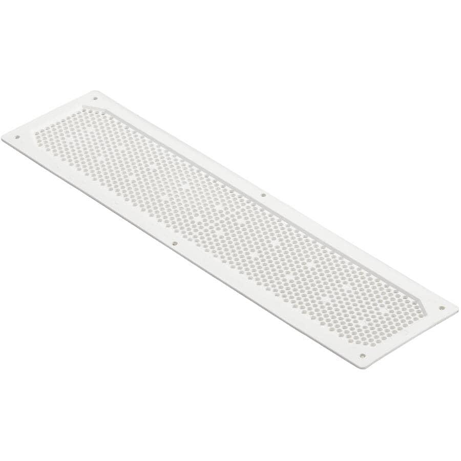 DURAFLO:Évent de soffite blanc en plastique, 4 po x 16 po