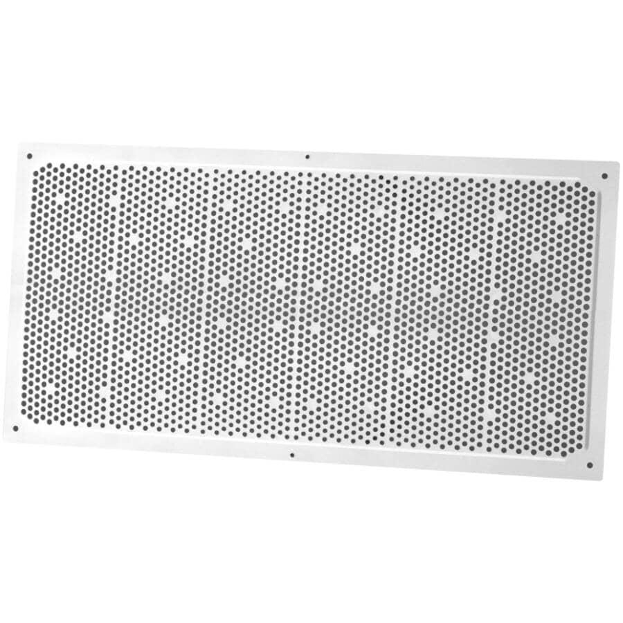 DURAFLO:Évent de soffite blanc en plastique, 8 po x 16 po
