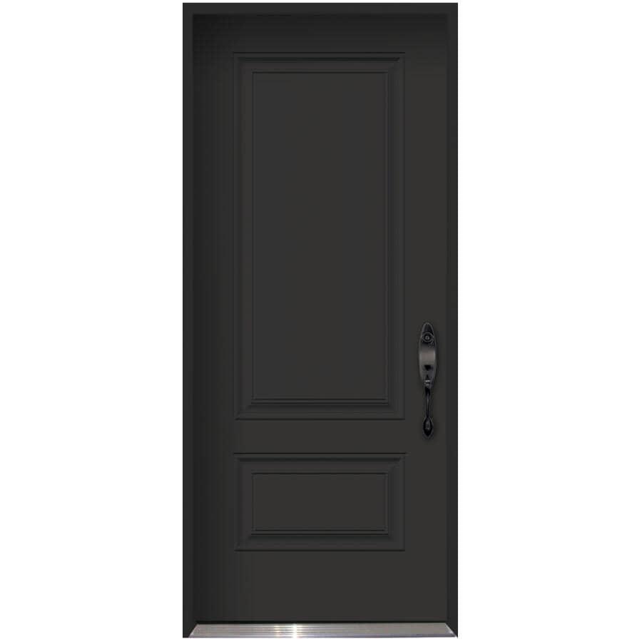 """DOORSMITH:34"""" x 80"""" Polytech Left Hand Black and White Steel Door"""