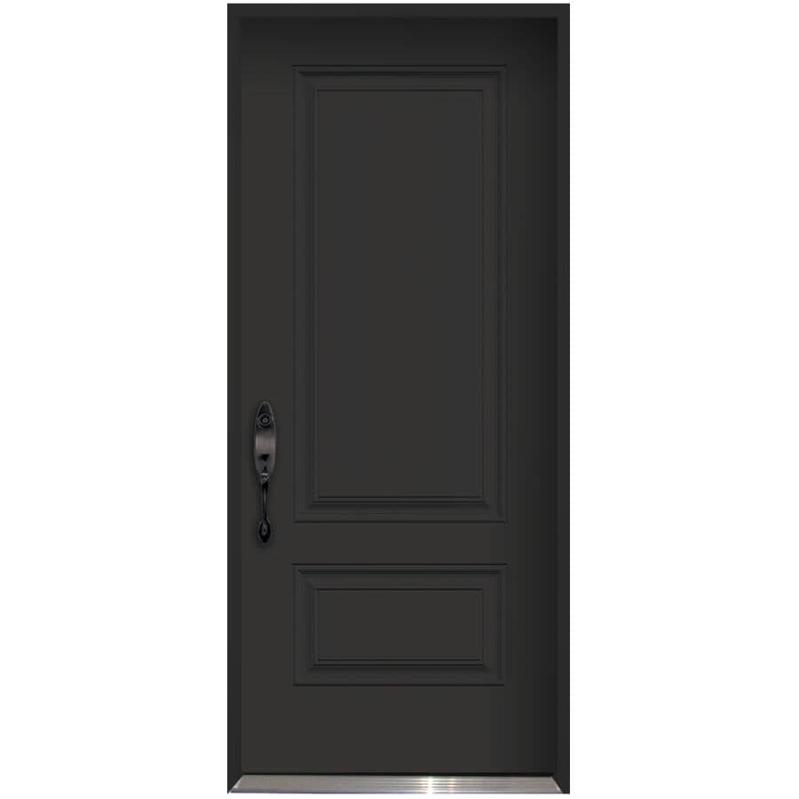 "DOORSMITH:36"" x 80"" Polytech Right Hand Black and White Steel Door"