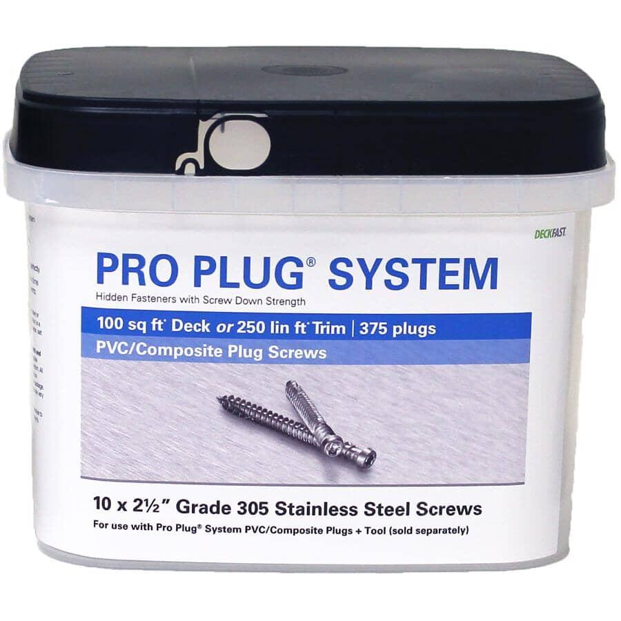 "TRUNORTH DECK:375 Pack 2-1/2"" Stainless Steel Screws for TruNorth Deck Pro Plug System"
