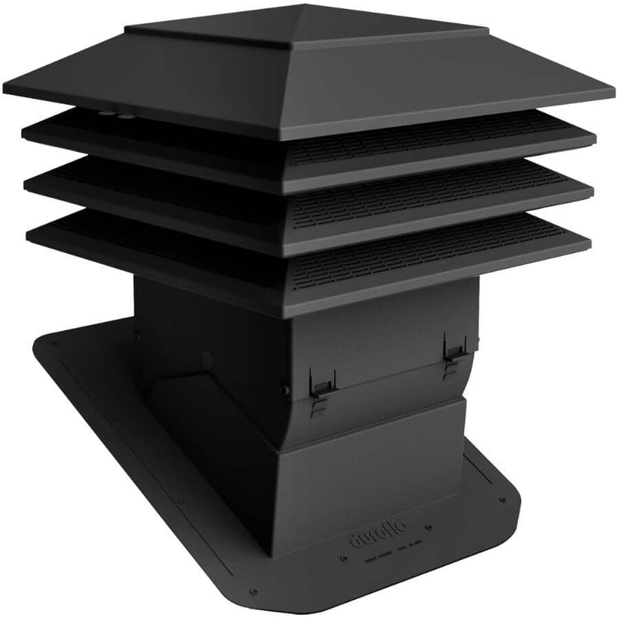 "DURAFLO:12"" x 12"" Black Weatherpro Pivot Roof Vent"