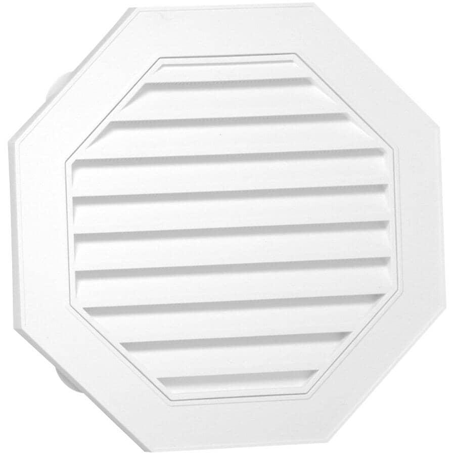 DURAFLO:Évent de pignon octogonal blanc, 18 po