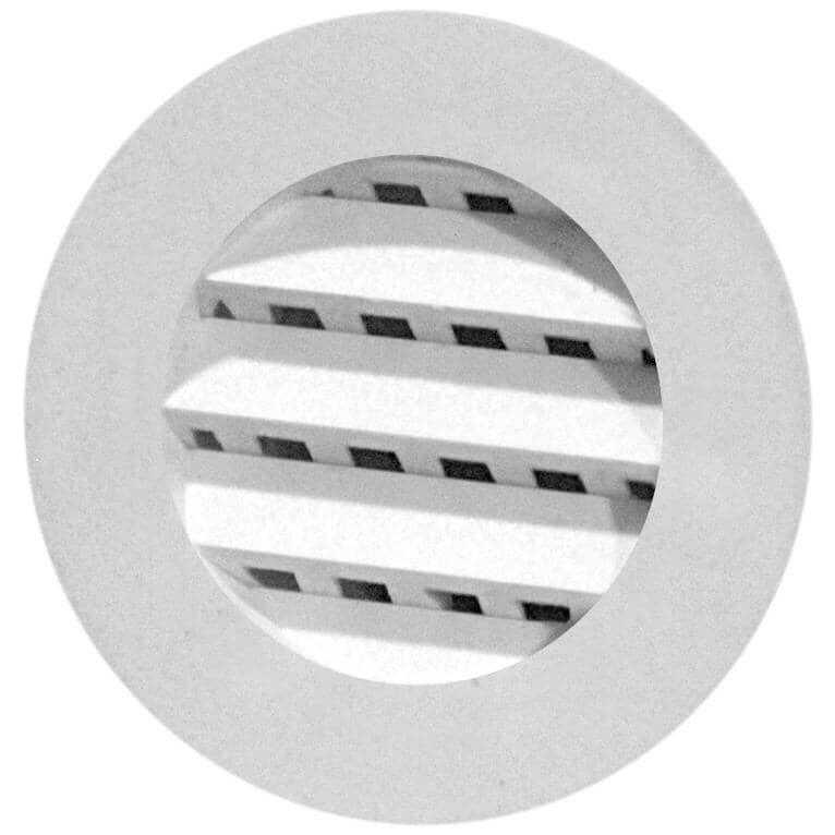 DURAFLO:Mini-évent de soffite rond blanc en plastique, 1 po