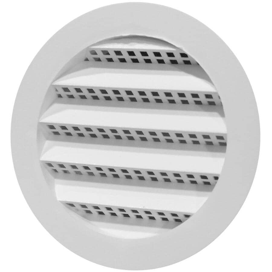 DURAFLO:Mini-évent de soffite rond blanc en plastique, 2-1/2 po