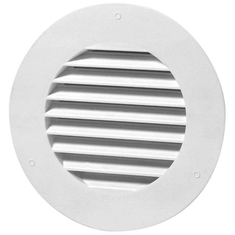 DURAFLO:Évent de soffite rond blanc en plastique, 4 po
