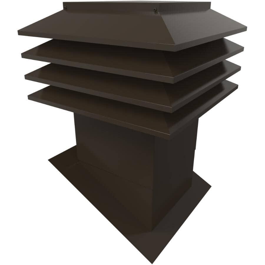 """VENTILATION MAXIMUM:12"""" x 12"""" Maximum Brown Slanted Roof Vent"""