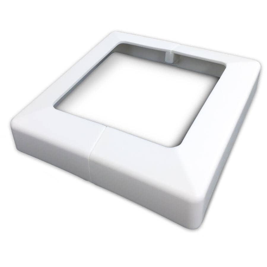"PLAKCAP:4"" x 4"" White Post Base Cover"