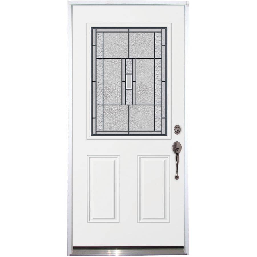 """DOORSMITH:36"""" x 80"""" Titan Left Hand Steel Door, with 22"""" x 36"""" Lite"""