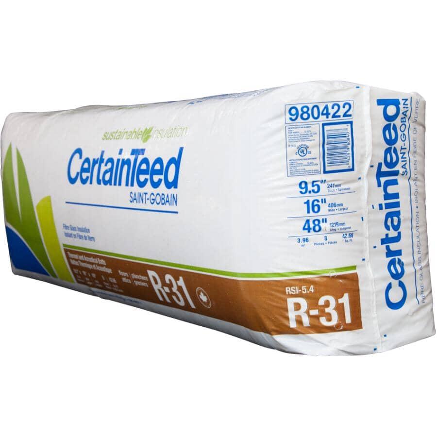 "CERTAINTEED:R31 x 16"" Fiberglass Insulation, covers 42.67 sq. ft."