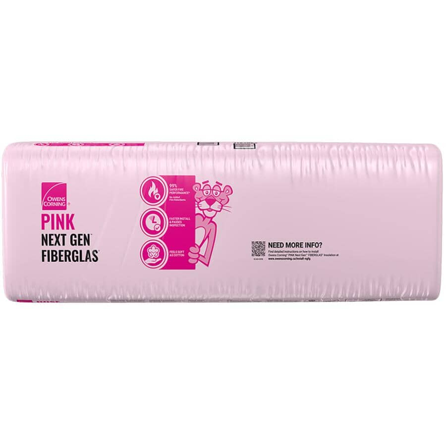 """OWENS CORNING:R14 x 23"""" Pink Insulation, covers 120 sq. ft."""