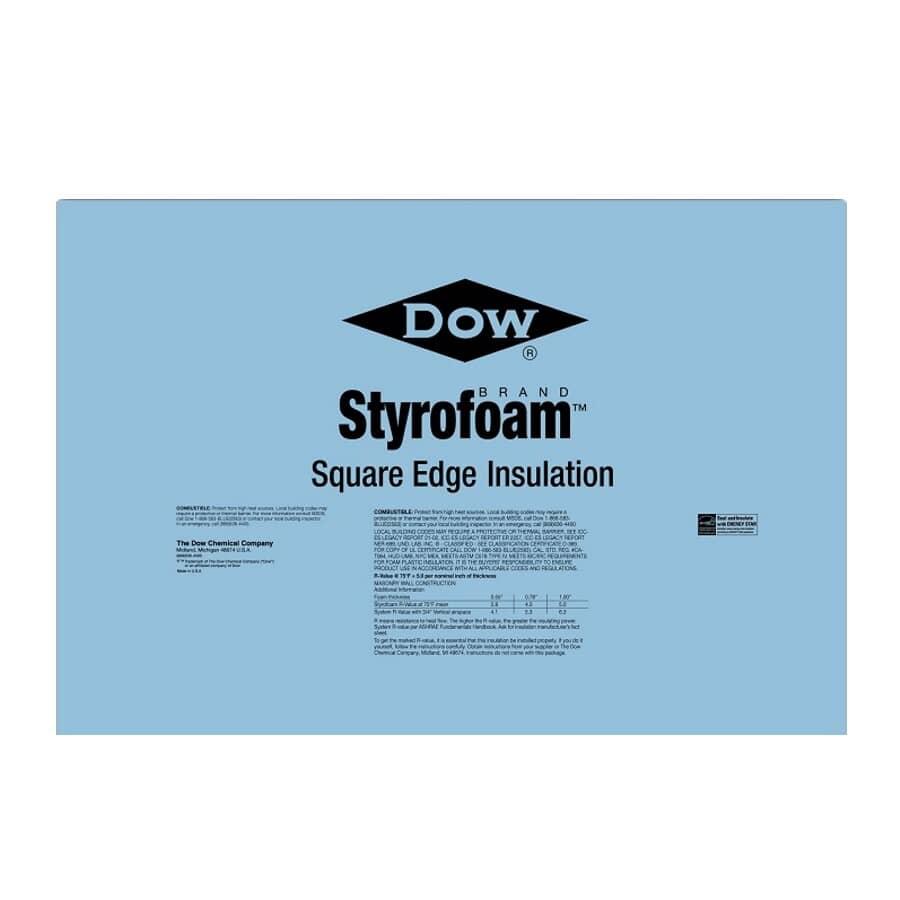 """DOW:4"""" x 2' x 8' Styrofoam SM Ship Lap Foam Insulation"""