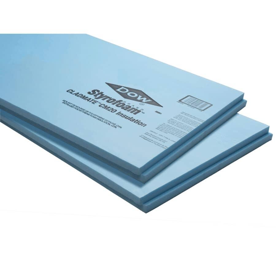 """DOW:1.5"""" x 2' x 8' Styrofoam Cladmate CM20 Ship Lap Foam Insulation"""