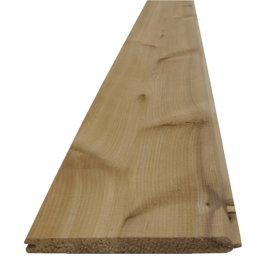 CANWEL:8' V-Joint Knotty Cedar Panel, covers 14 sq. ft