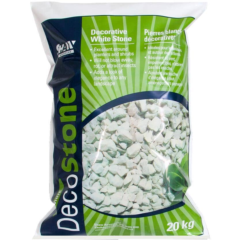 SHAW RESOURCES:20kg White Decorative Stone Chips