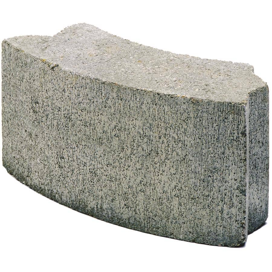 EXPOCRETE:40lb Grey Curved Cement Block, for Barbeque