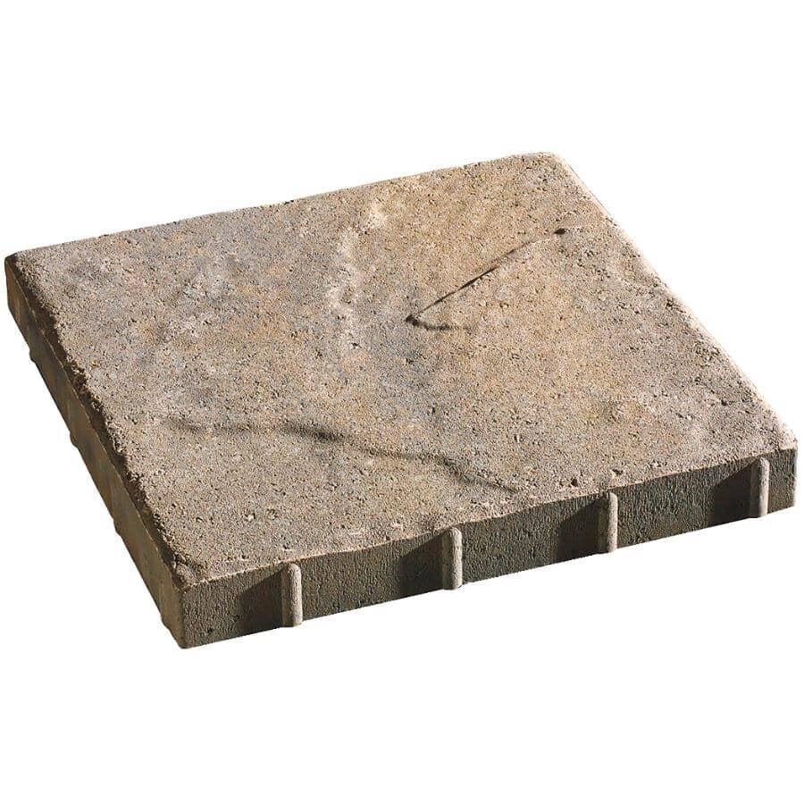"PERMACON:2"" x 16"" x 16"" Saranak Range Beige and Black Patio Stones - Earth Blend"