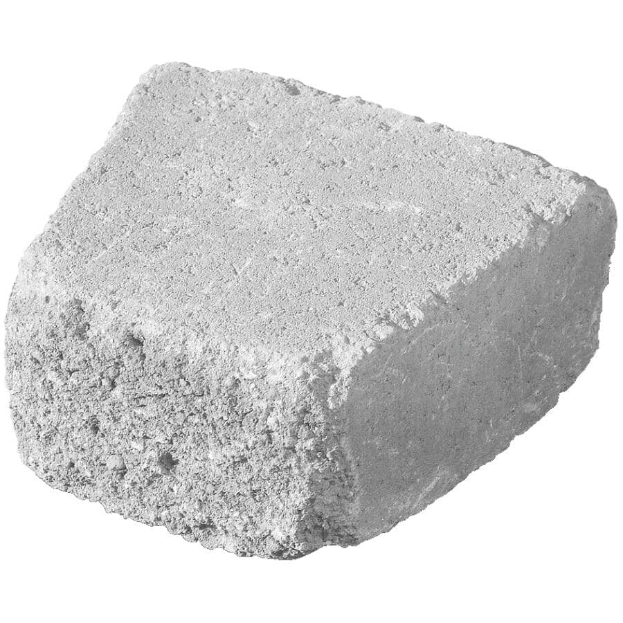 """PERMACON:8"""" x 9"""" x 4"""" Country Retaining Wall Stone - Charcoal"""