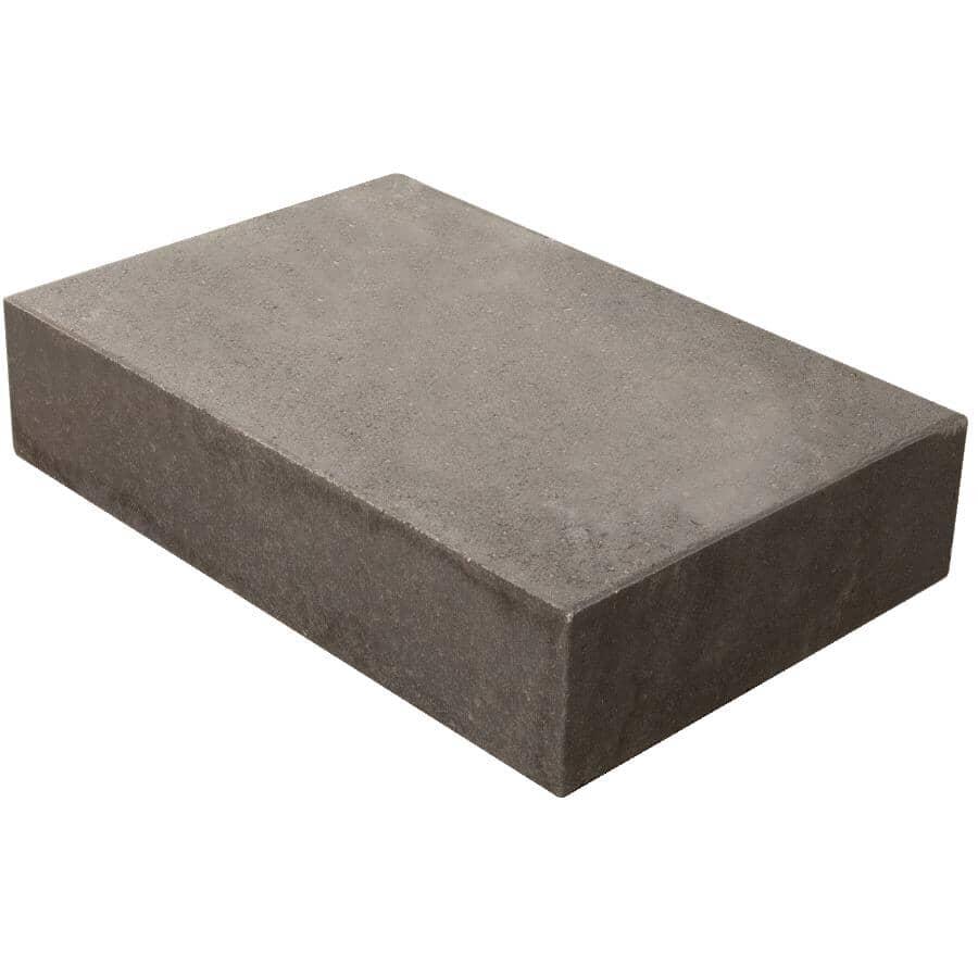 "BARKMAN CONCRETE:12"" x 18"" x 4"" Charcoal Retaining Wall Coping Stone"