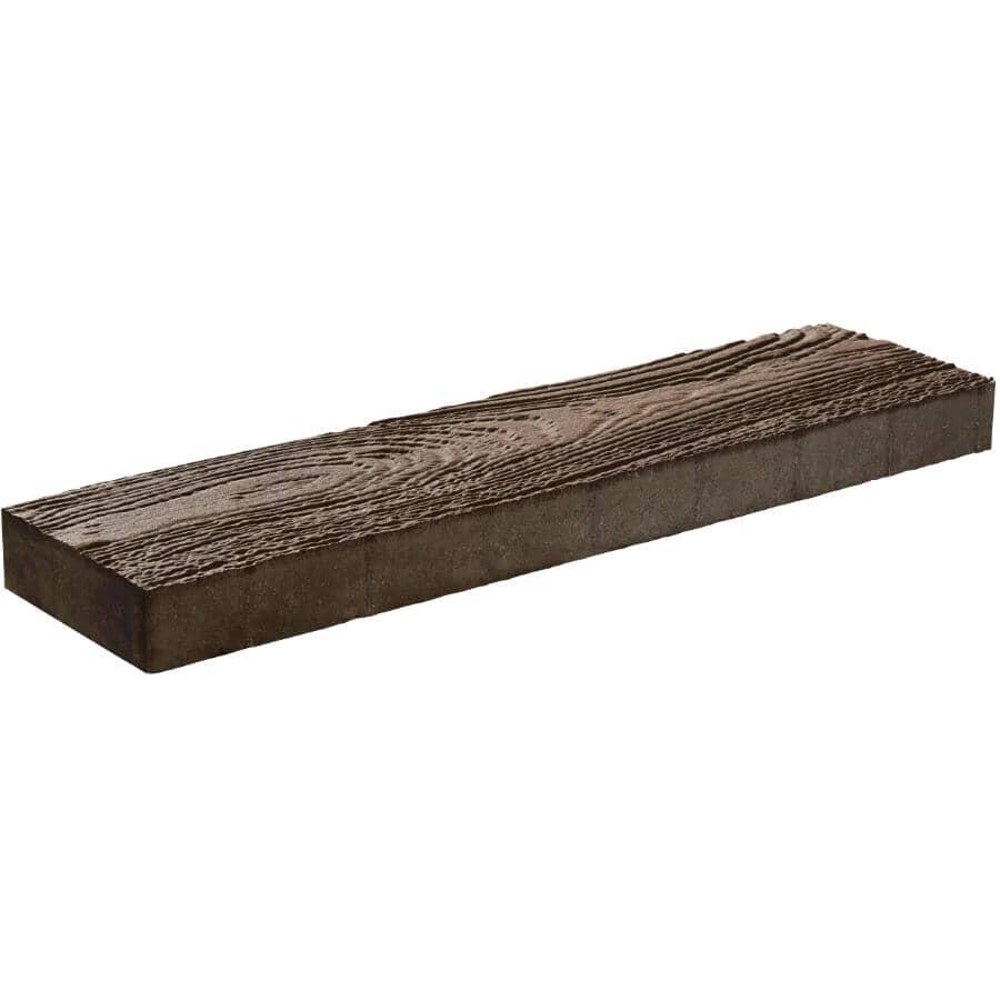 "BARKMAN CONCRETE:32"" x 8"" x 2-3/8"" Arborwood Kodiak Brown Plank Patio Stone"