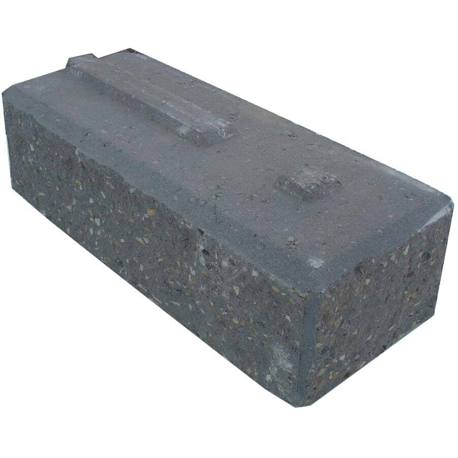 "EXPOCRETE:8"" x 6"" x 12"" Pisa Grey Curved Retaining Wall Stone"