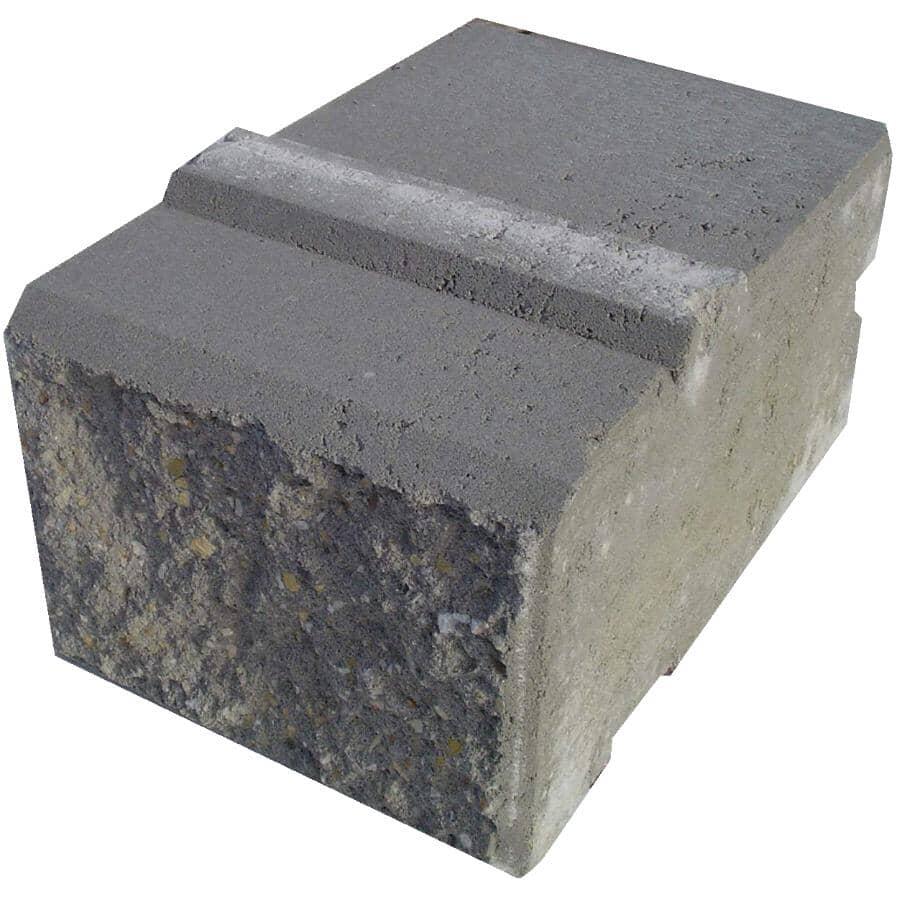 "EXPOCRETE:8"" x 8"" x 12"" Pisa Grey Straight Retaining Wall Stone"