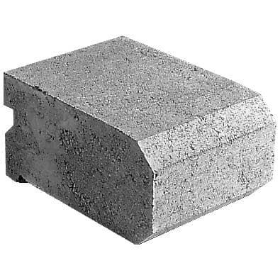 "PERMACON:5-5/16"" x 8-1/2"" x 11"" Universal Slope Grey Retaining Wall Stone"