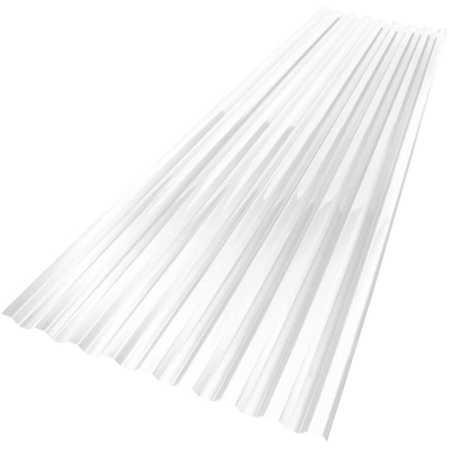 """VICWEST:24"""" x 8' Suntuf Clear Polycarbonate Panel"""