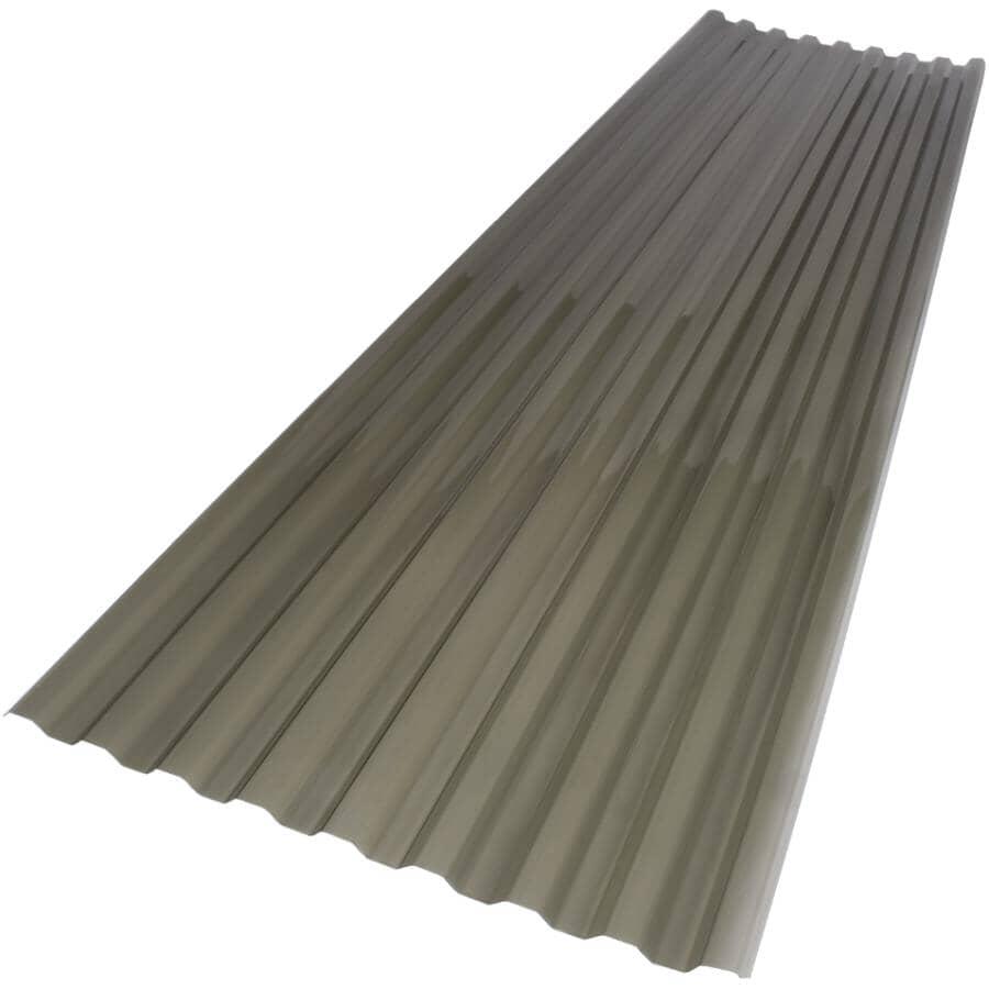 "VICWEST:24"" x 12' Suntuf Solar Grey Polycarbonate Panel"