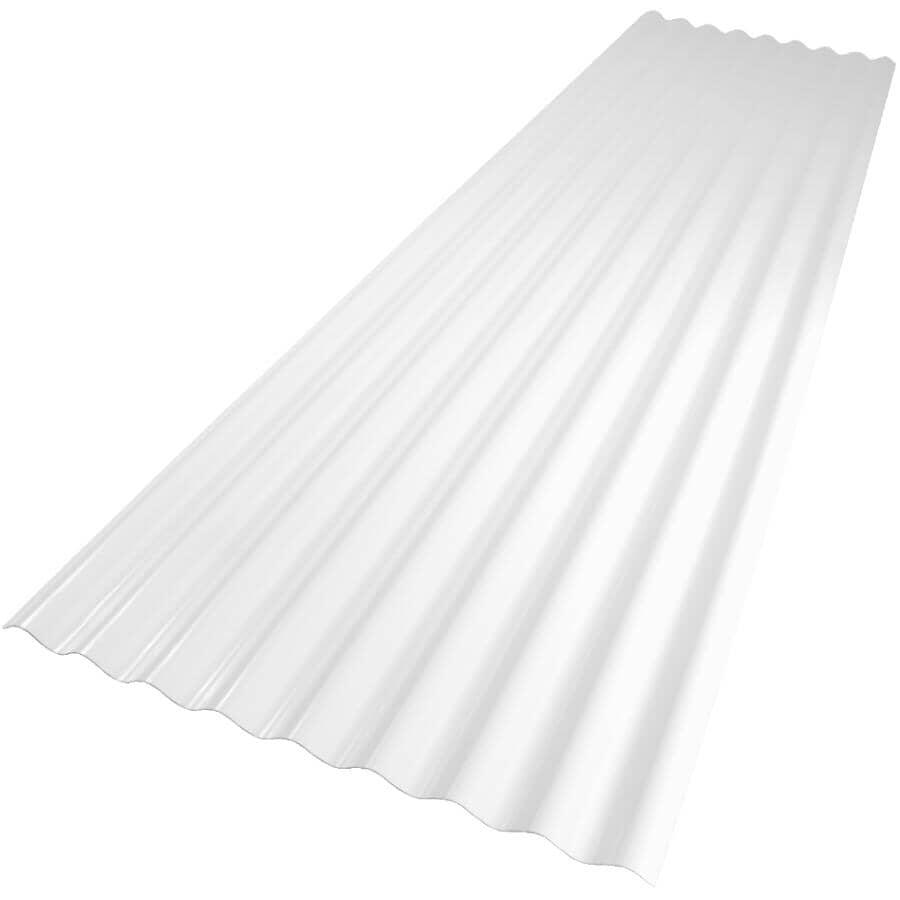 "VICWEST:24"" x 8' Palruf Clear PVC Panel"