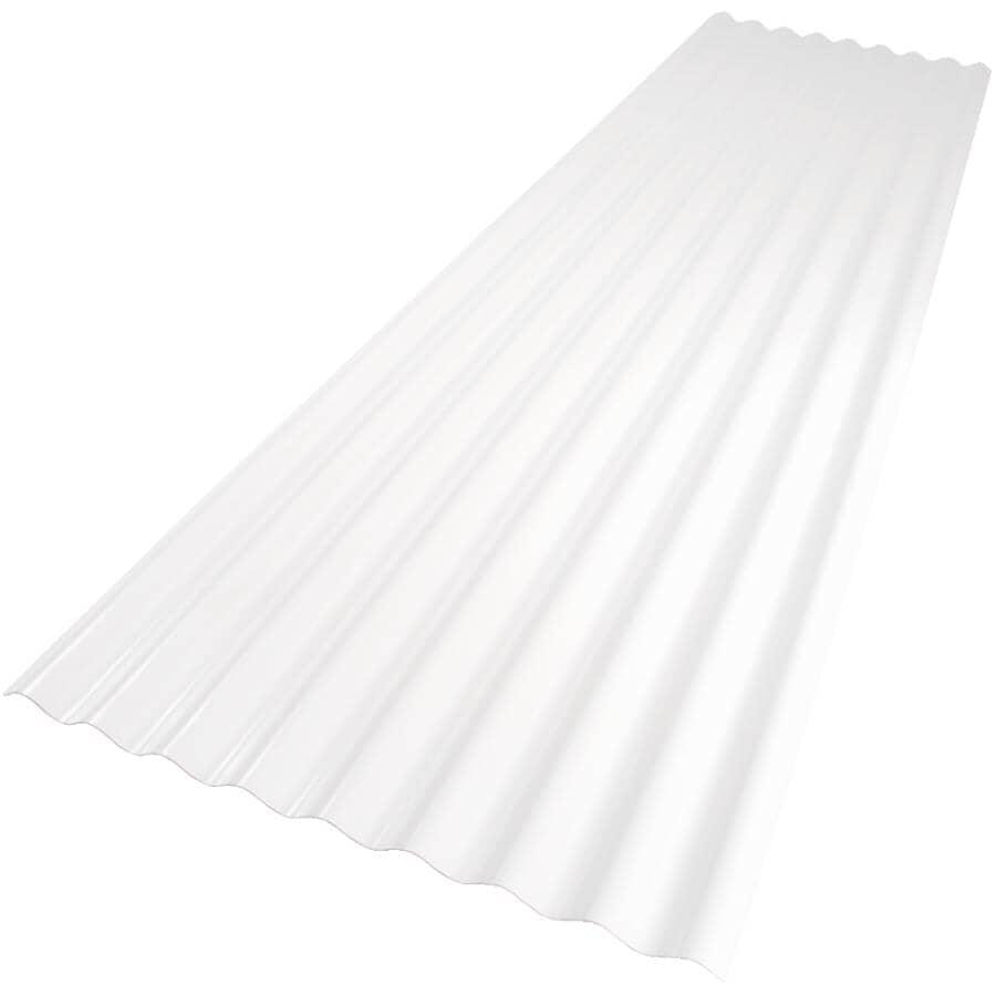"""VICWEST:24"""" x 8' Palruf White PVC Panel"""