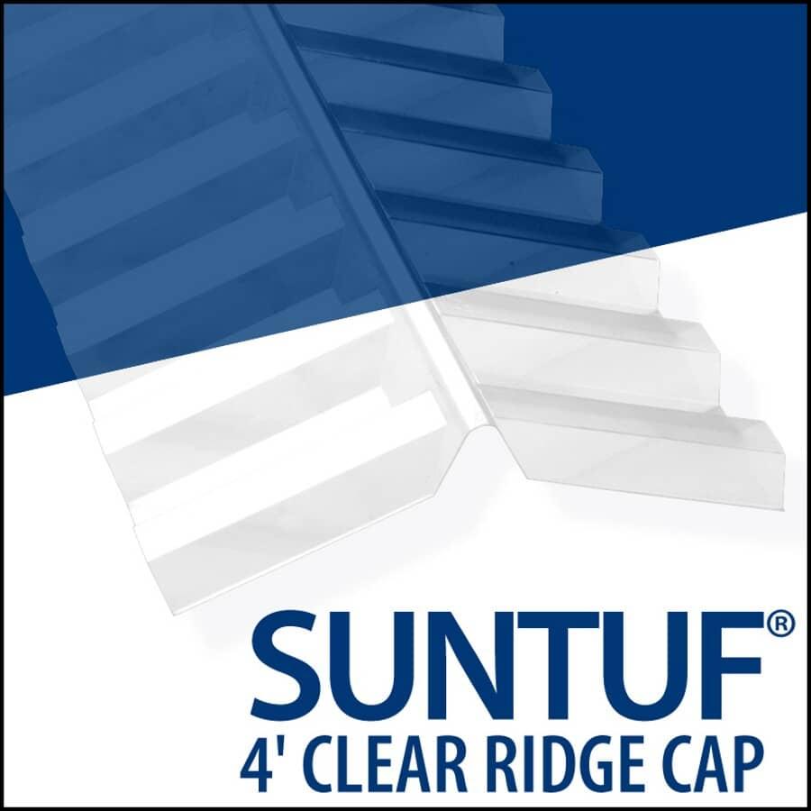 VICWEST:4' PC Suntuf Clear Ridgecap
