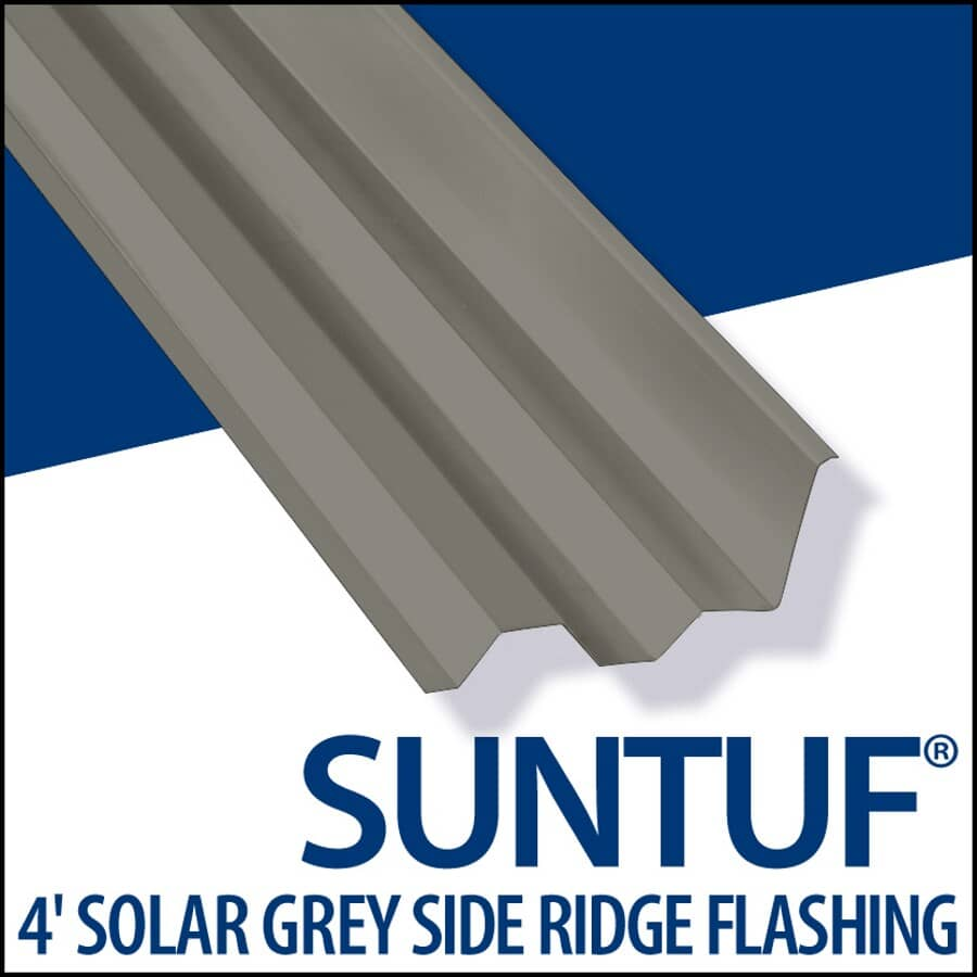 VICWEST:4' PC Suntuf Sky Grey Side Ridge