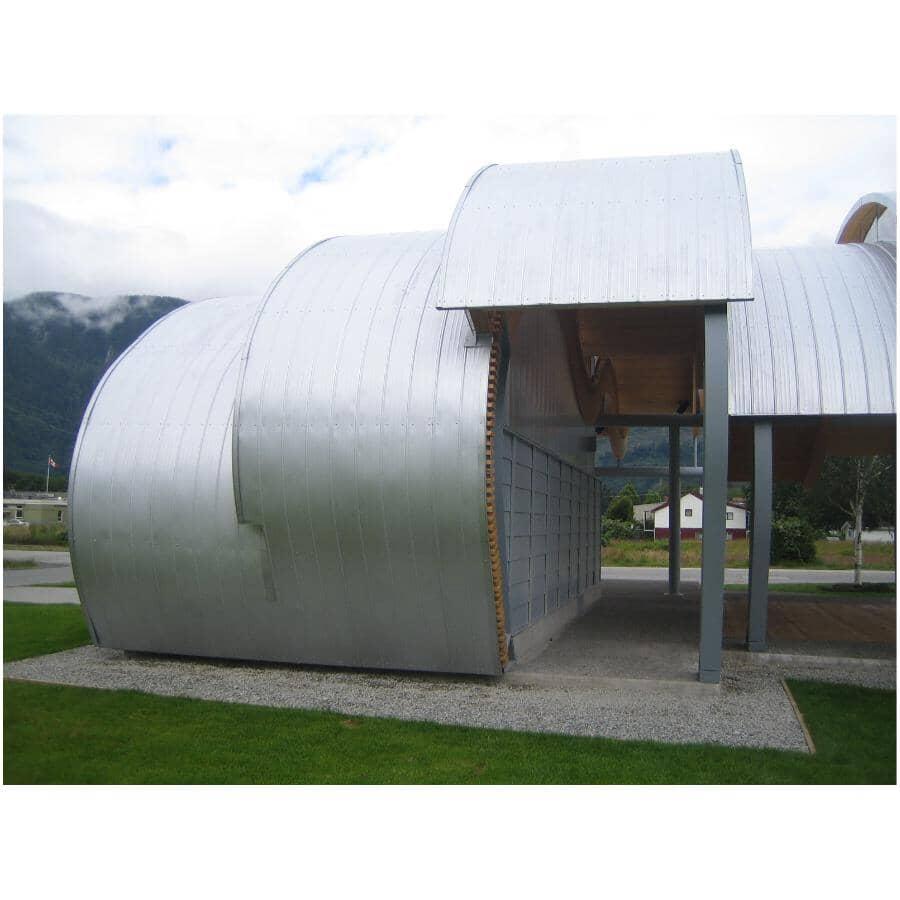 WESTMAN STEEL:30 Gauge Rainbow Ribbed Galvanized Metal Roof