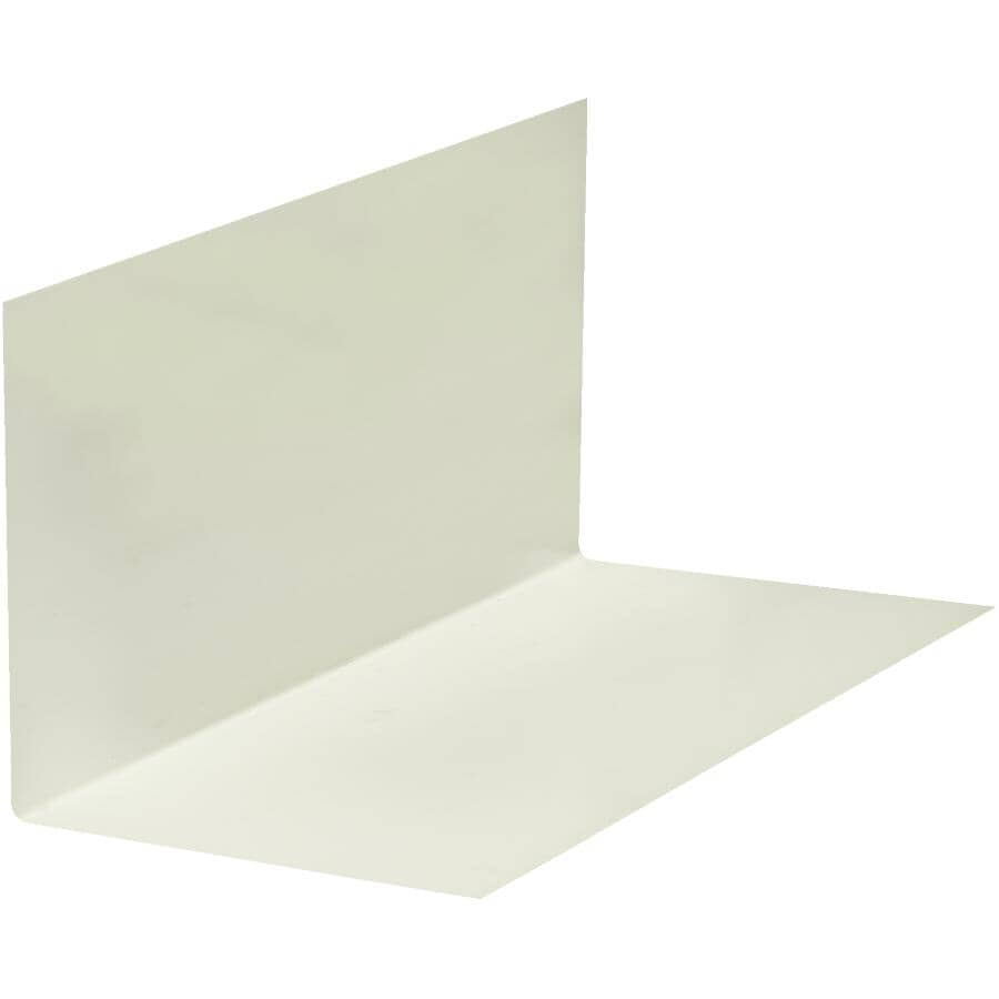 """BAILEY METAL PRODUCTS:8"""" x 12"""" White Painted Metal Step Flashing"""