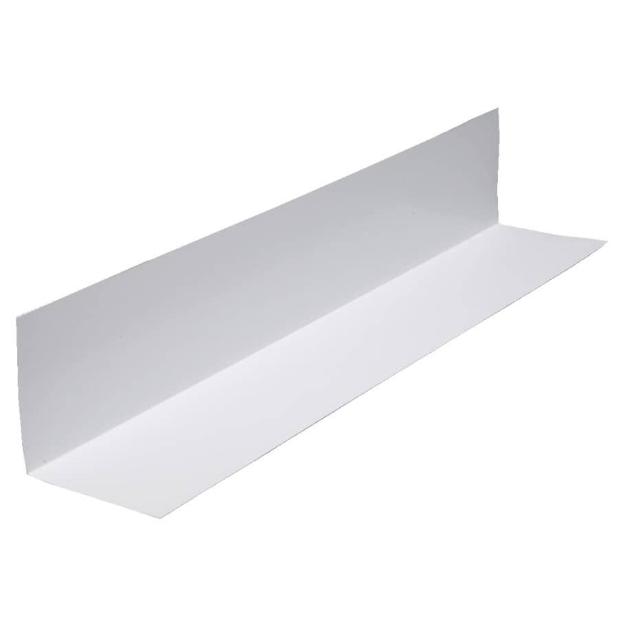"""KAYCAN:2"""" x 10' White Semi Gloss Aluminum Angle Flashing"""