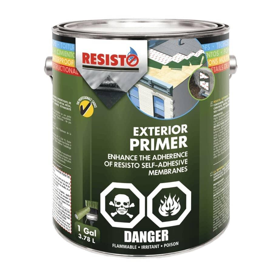 RESISTO:Apprêt pour membrane extérieure, 3,78 L