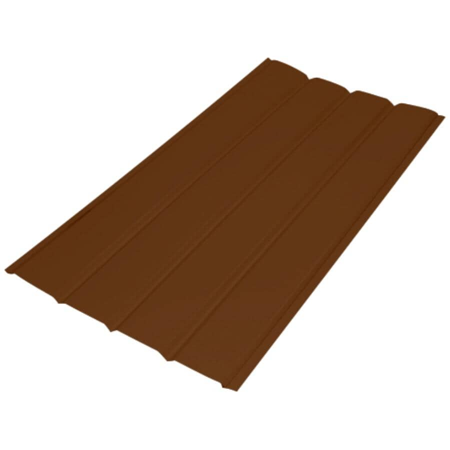 "GENTEK:16"" x 12' Nutmeg 4 Panel Plain Aluminum Soffit"