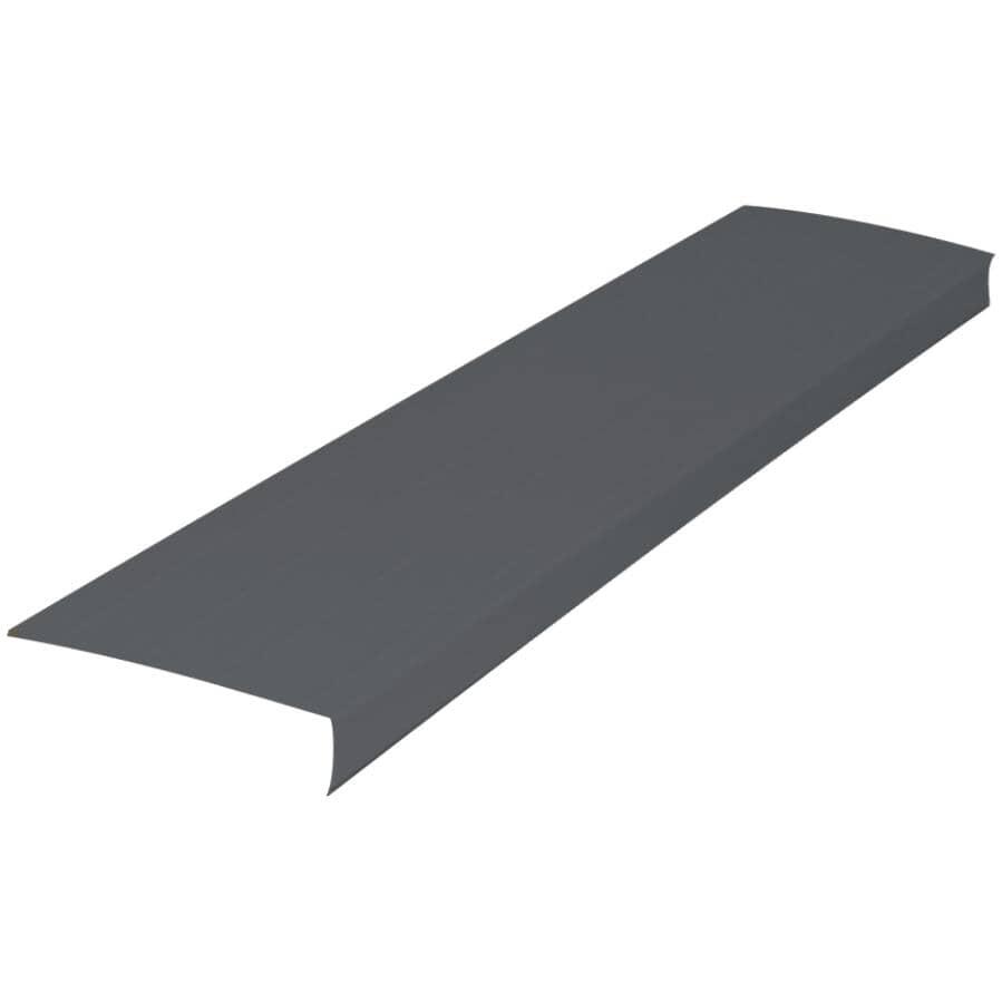 "GENTEK:1"" x 6"" x 10' Graphite Ribbed Aluminum Fascia"