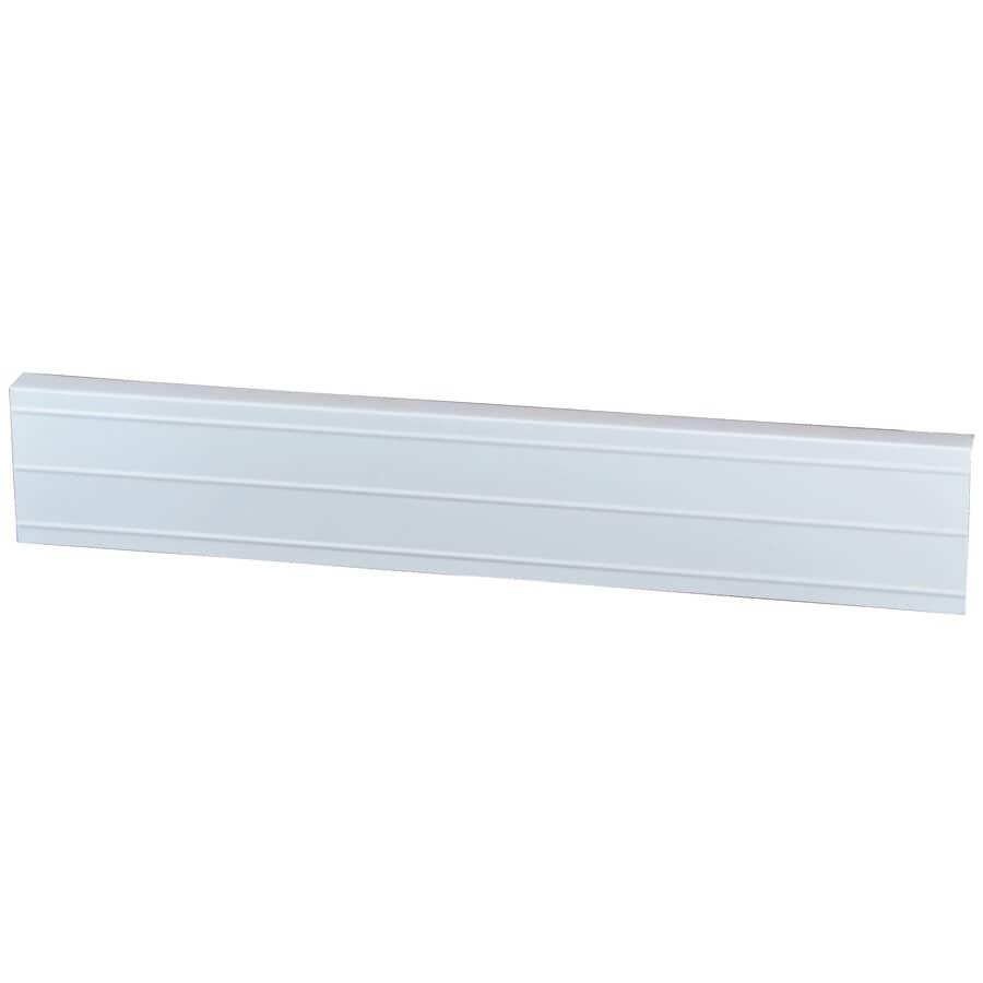 "GENTEK:1"" x 4"" x 10' White Ribbed Aluminum Fascia"