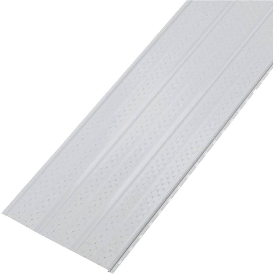 KAYCAN:Soffite ventilé en aluminium SP600V de 16 po x 12 pi, blanc loup