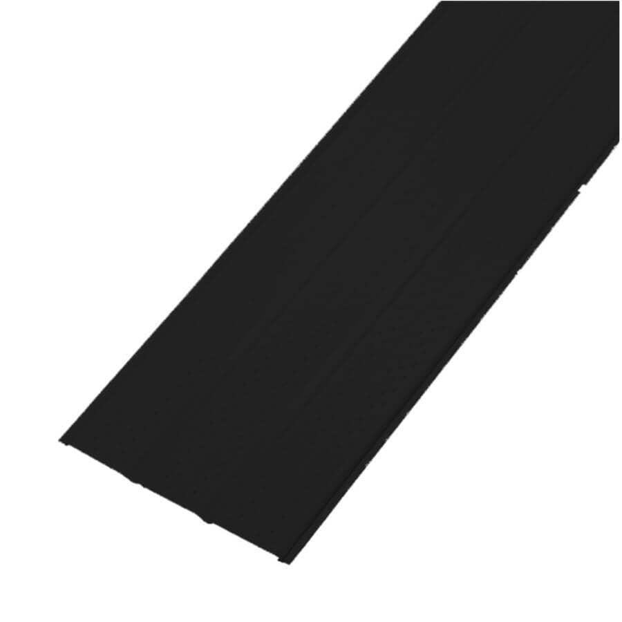 KAYCAN:Soffite uni en aluminium SP600V de 16 po x 12 pi, noir mat
