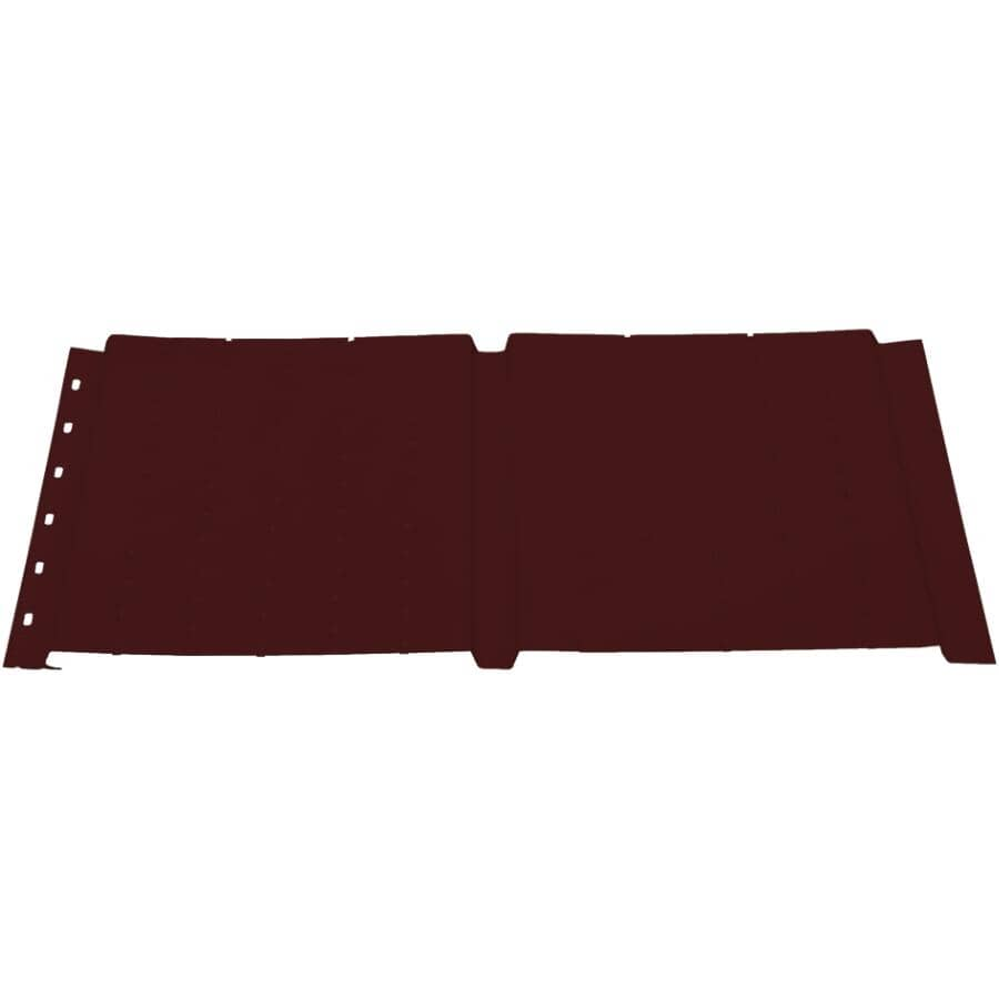 KAYCAN:Soffite ventilé SP600V de 16 po x 12 pi en aluminium, brun chocolat